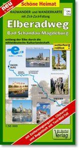 Radwanderkarte Elberadweg Bad Schandau - Magdeburg
