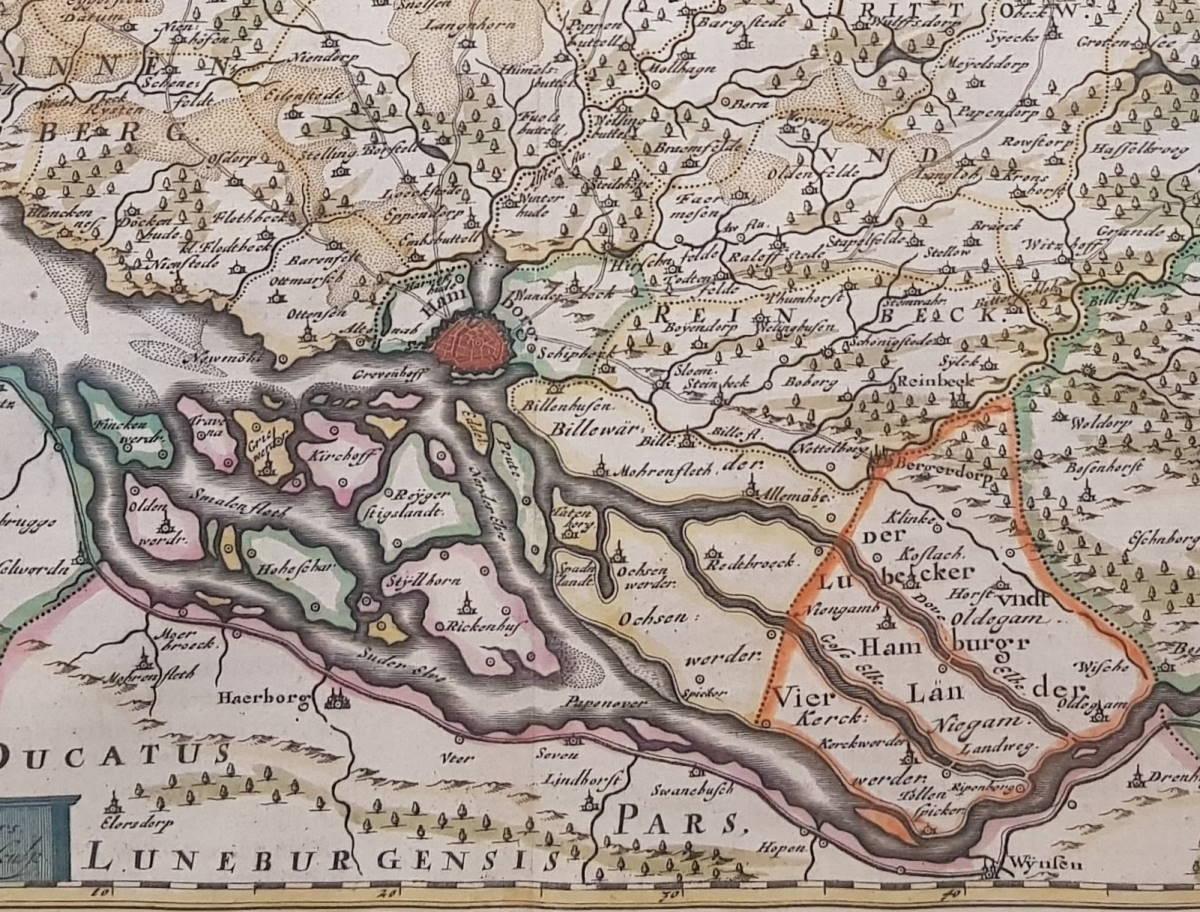 Karte von Hamburg um 1650